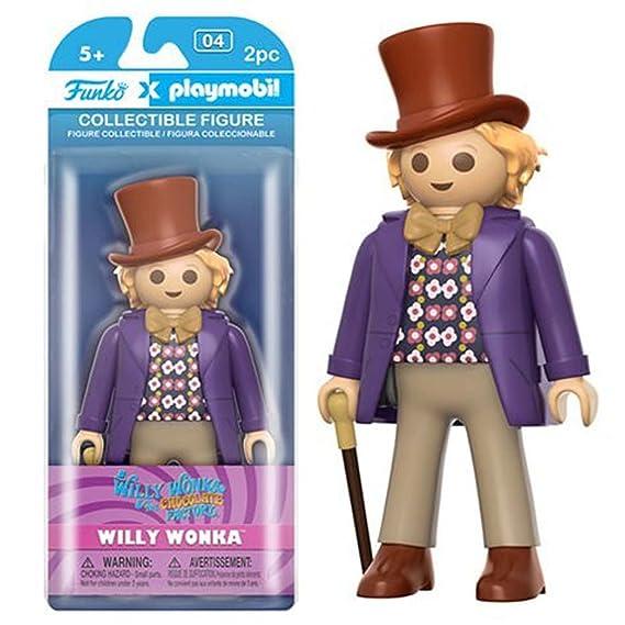 Funko - Figurine Charlie et la Chocolaterie Playmobil - Willy Wonka 15cm - 0849803077792