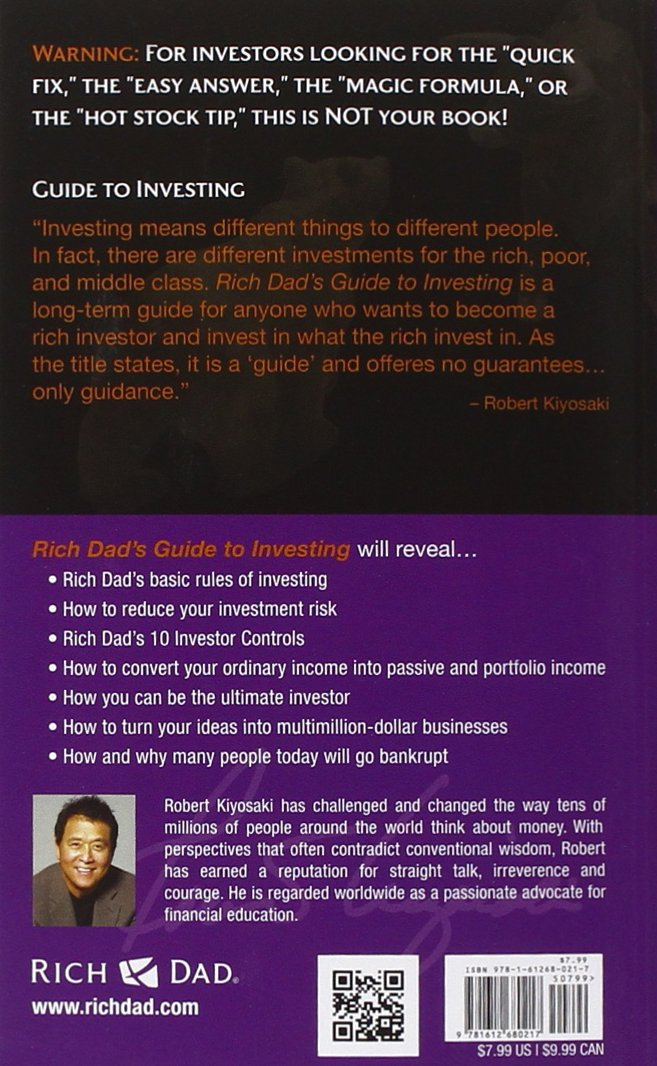 Rich Dad's Guide to Investing: Amazon.co.uk: Robert T. Kiyosaki ...