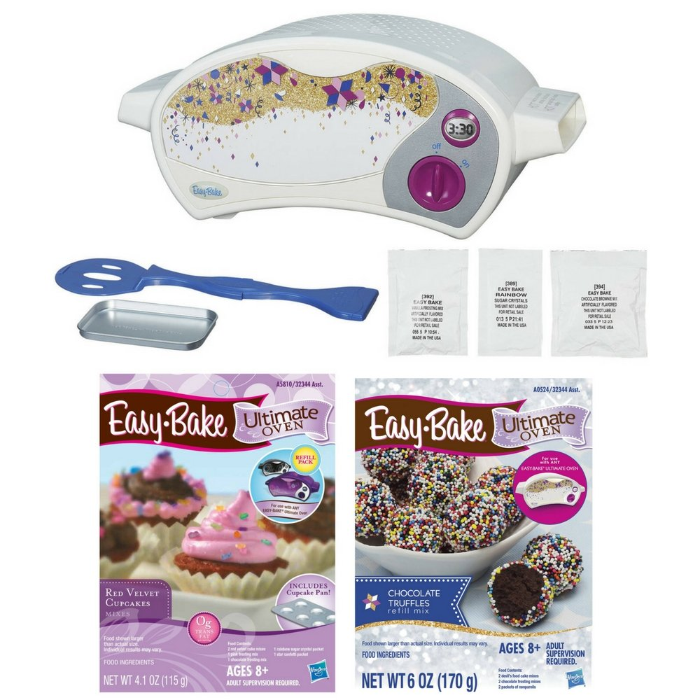 Easy-Bake Ultimate Oven Baking Star Edition (with Truffles Refill Pack and Red Velvet Cupcakes Refill Pack) by Easy Bake