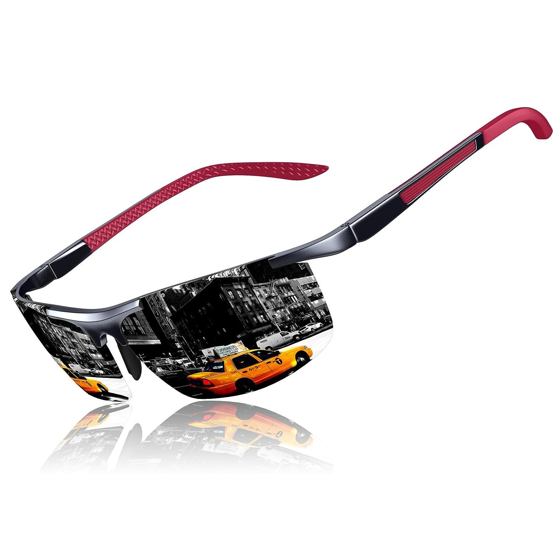 KITHDIA Gafas de sol deportivas polarizadas para hombre con ultraligero y marco de metal irrompible, 100% UV400