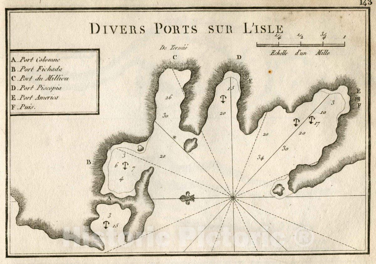 Amazon.com: Historic Map - Pl. 143. Other Ports on The ...