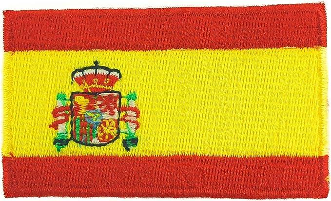 Gemelolandia Parche Termoadhesivo Bandera España 6cm: Amazon.es: Ropa y accesorios