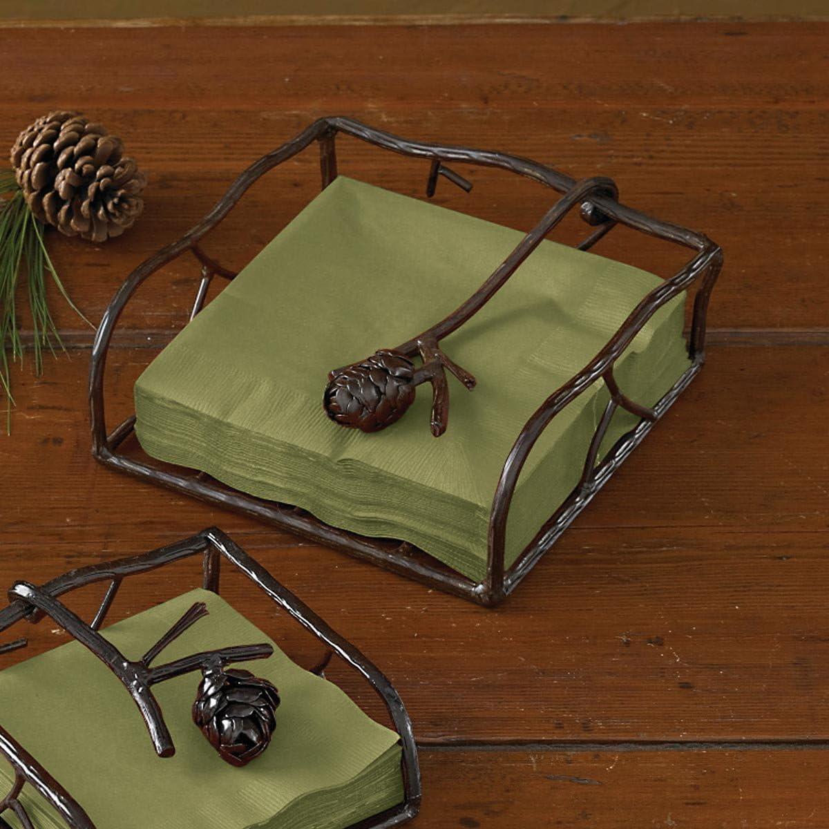Park Designs Pine Lodge Napkin Ring Pinecone NEW