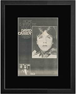 NME David Cassidy - Home is Where The Heart is Framed Mini Poster - 53x43cm