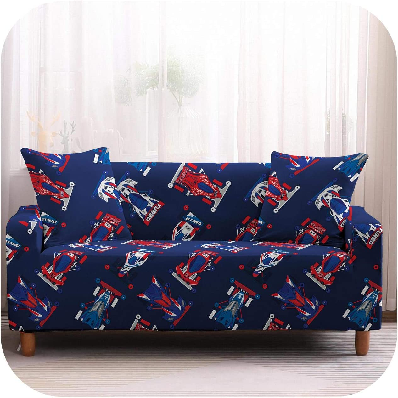 all-equal Car Sofa Cover Elastic Stretch Modern Chair Couch Cover For Living Room Furniture Protector 1/2/3/4 Seater-4-2 Seater