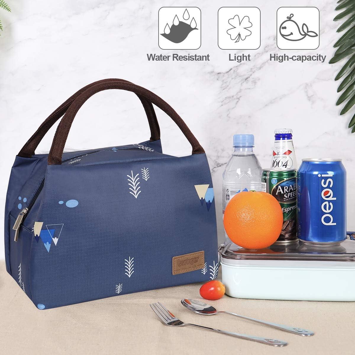 Studenten und Kinder Newox buringer Lunchtasche Lunch Bag s/ü/ße K/ühltasche f/ür Lunchboxen Wasserdichtes Gewebe Faltbare Picknick-Handtasche f/ür Frauen Erwachsene