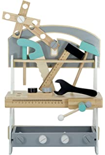 Kindsgut - Taller de carpintería de Juguete - Banco de Herramientas de Madera