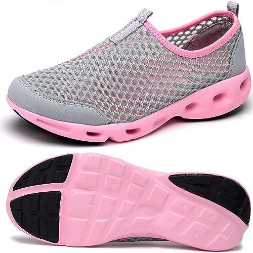 ODEMA Zapatillas de Agua Ligeras de Malla Slip On de Verano Para Mujer: Amazon.es: Zapatos y complementos