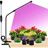 Grow Lights LED Plant Full Spectrum Single-Head 20W Clip-on Plant Grow Lights for Indoor Plant with Dimmable 3 Light Modes Ti