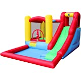 BestParty Inflatable Bouncy castle and water slide with blower