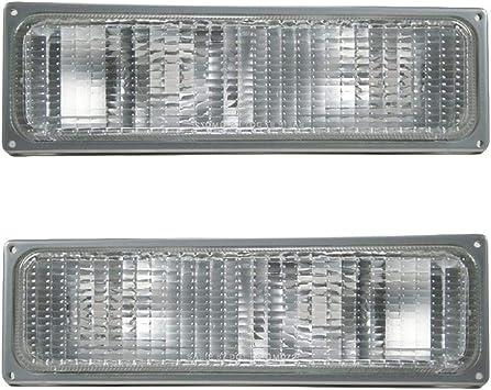 Upper Corner Parking Turn Signal Light Lamp Left /& Right Pair Set for GMC Truck