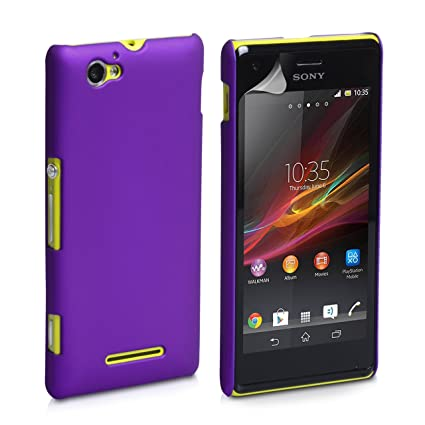 hot sale online 024ba 82490 ImagineDesign Matte Hard Case Back Cover for Sony Xperia M (Purple)