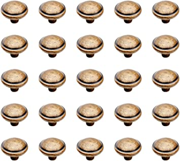 Emuca 9160008 Pomo para Mueble /Ø32 mm Set de 25 Piezas Bronce