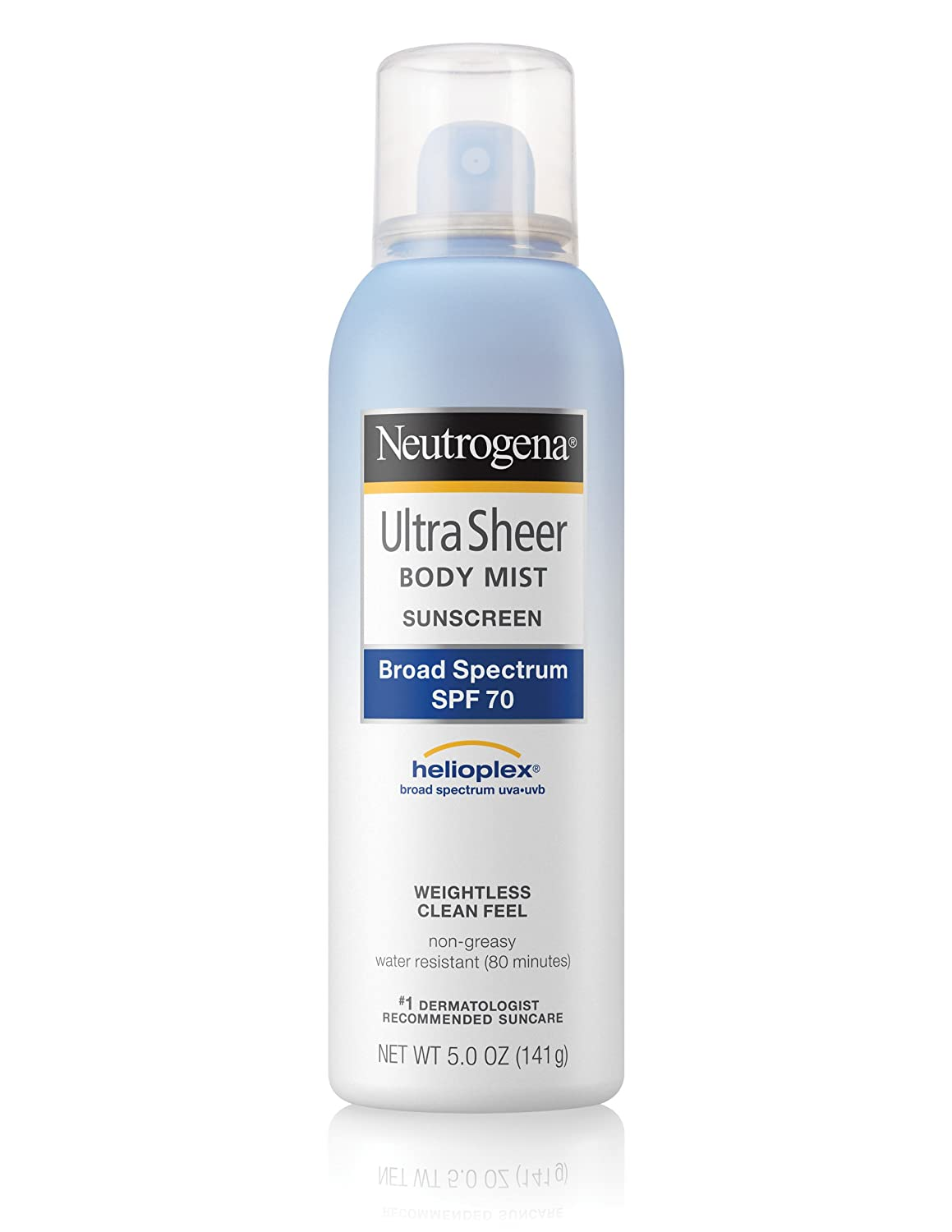 Neutrogena Ultra Sheer Sunblock Body Mist, SPF 70, 147 ml J&J154005