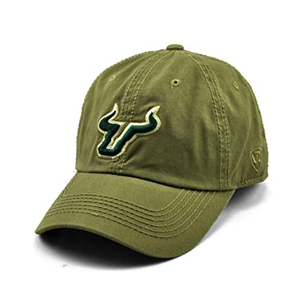 low priced f4cba ae89f Amazon.com   Licensed NCAA South Florida Bulls (USF) Khaki Cotton Crew  Adjustable Baseball Hat Cap   Sports   Outdoors