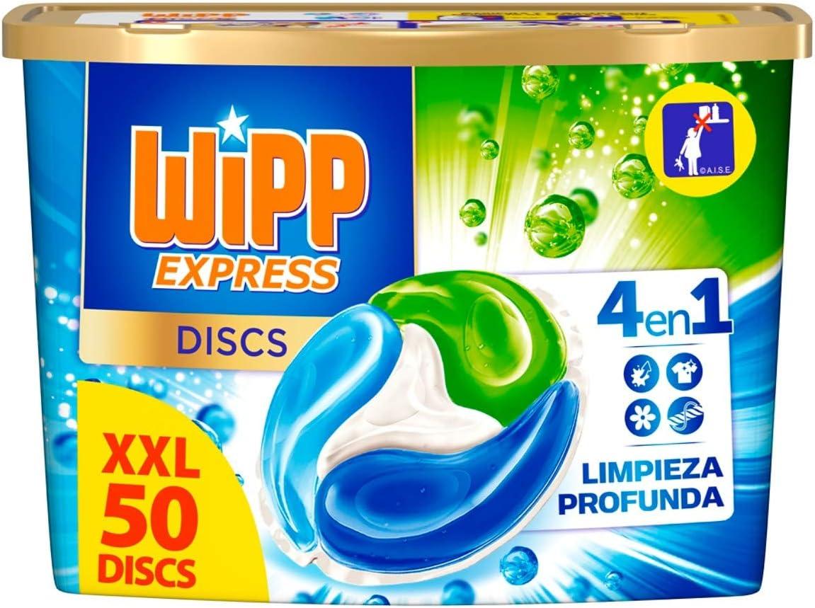 Wipp Express Detergente en Cápsulas - 50 Discos: Amazon.es: Salud ...