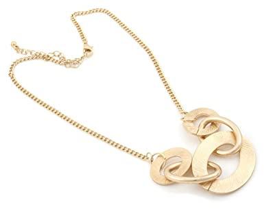 Zest Gold Look Necklace with Pendant Collection Golden