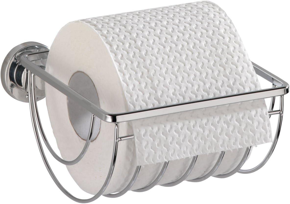 WENKO 18241100 Magic-Loc WC-Rollenhalter Biella Befestigen ohne bohren