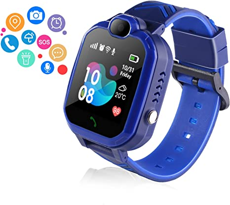 Amazon.com: ZOPPRI Smartwatch for Kid, IP67 Waterproof 1.44 ...