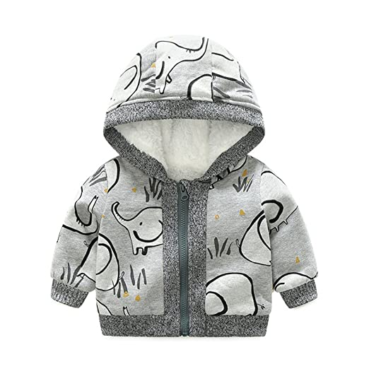 db3ffd774 Amazon.com  HighDream Baby Boys Girls Sherpa Fleece Lined Coat ...