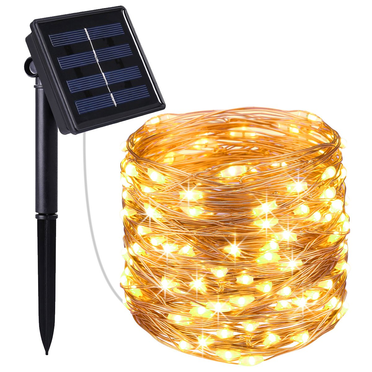 Best beer lights for bars amazon amir solar powered string lights 100 led copper wire lights starry string lights indoor outdoor waterproof solar decoration lights for gardens home aloadofball Gallery