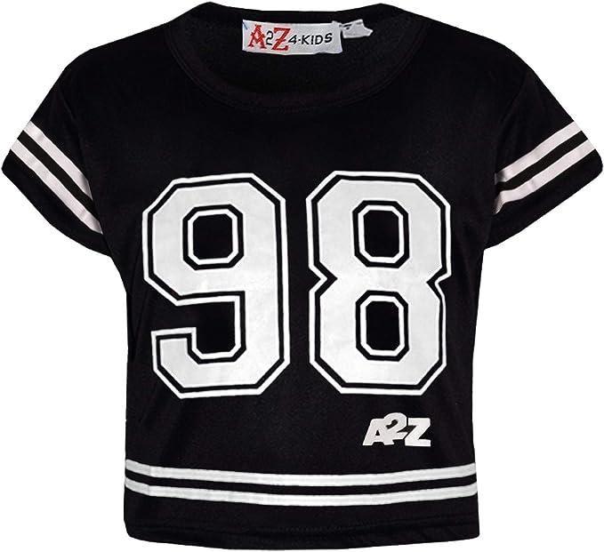 A2Z 4 Kids/® Bambini Ragazze Crop Top Tintura Cravatta Stampare Elegento Moda alla Moda T Shirt Tank Top /& Tees Nouva et/à 5 6 7 8 9 10 11 12 13 Anni