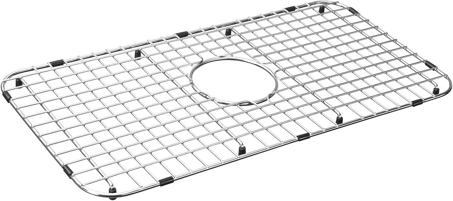 Serene Valley Sink Bottom Grid 25 1 8 X 12 7 8 Centered Drain With Corner Radius 1 1 2 Sink Grid Stainless Steel Ndg2513c