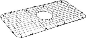 """Serene Valley Sink Bottom Grid 25-1/8"""" x 12-7/8"""", Centered Drain with Corner Radius 1-1/2"""", Sink Grid Stainless Steel NDG2513C"""
