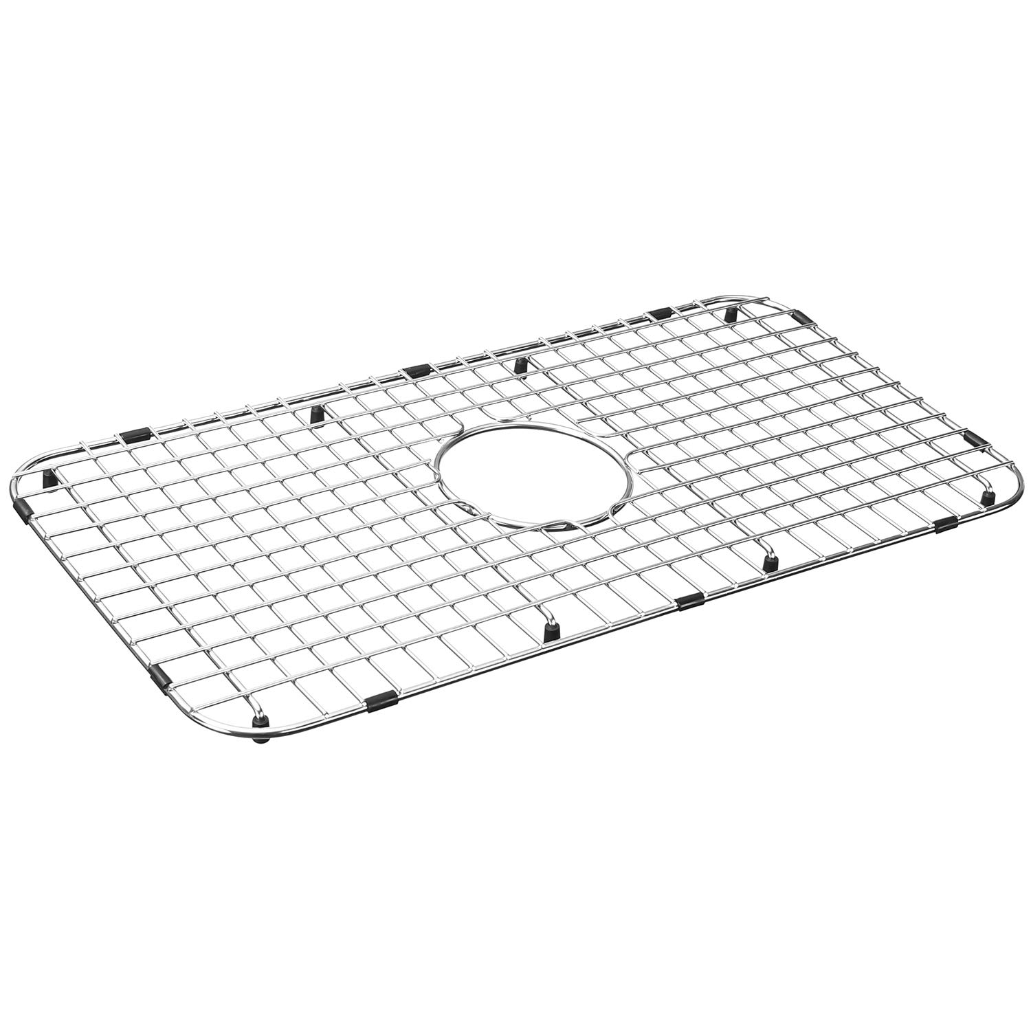 Serene Valley Sink Bottom Grid 25-1/8'' x 12-7/8'', Centered Drain with Corner Radius 1-1/2'', Sink Grid Stainless Steel NDG2513C by Serene Valley
