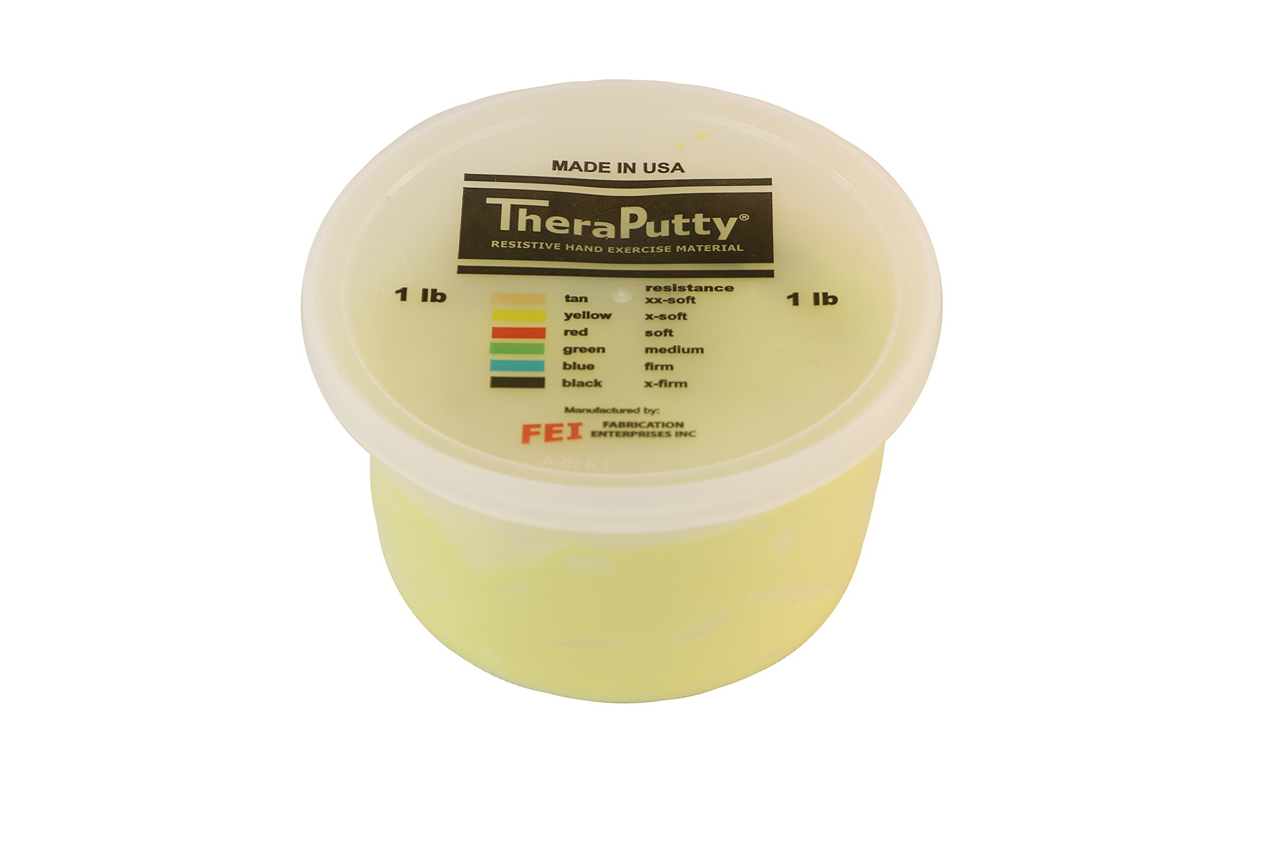 CanDo TheraPutty Plus Anti-microbial, Yellow: X-Soft, 1 lb