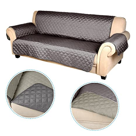 Swell Auralum 3 Seater Recliner Sofa Cover Reversible Sofa Seat Protector Armrest Slipcover 167Cm165Cm Pabps2019 Chair Design Images Pabps2019Com
