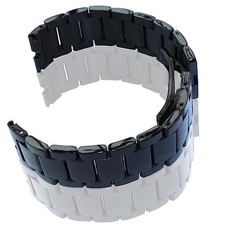 Bradychan banda de repuesto correa de reloj de acero inoxidable para Moto 360 Motorola 360 reloj