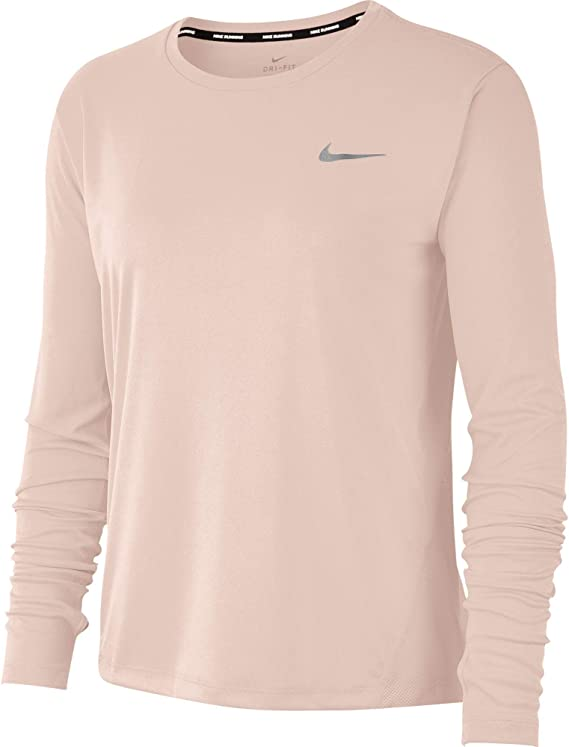 Nike Damen W Nk Miler Top Ls Long Sleeved T Shirt