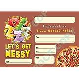 10 personalised girls boys pizza birthday party invitations n2