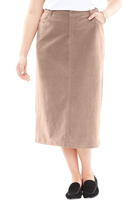 Woman Within PANTS レディース B074KVWNMT 28 Plus|Almond Taupe Almond Taupe 28 Plus
