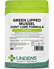 Lindens Green Lipped Mussel 500mg Capsules | 90 Pack | Joint Care Formula in Convenient, Rapid Release Capsules