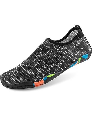 LEADFAS Descalzo Zapatos de Agua, Piel Agua de Secado Rápido Calzado Unisex Hombres Calcetines de