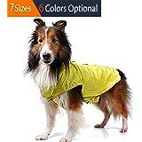 ThinkPet esterno: giacca invernale impermeabile e riflettente, Dog Rain cappotti, Felpa in pile per cane