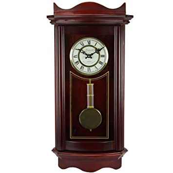 Amazoncom Bedford Clock Collection Weathered Wall Clock with