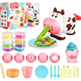 Playdough Sets Play Dough Tools, 28Pcs Kitchen Creations Noodle Playset and Ice Cream Maker Machine Play Dough Kit for Toddle