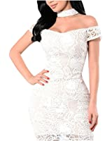 Eloise Isabel Fashion branco strapless lace bodycon dress NEW mulheres sexy mini vestidos fora do ombro