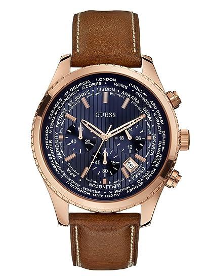 Amazon.com: GUESS U0500G1 reloj de acero inoxidable, en tono ...