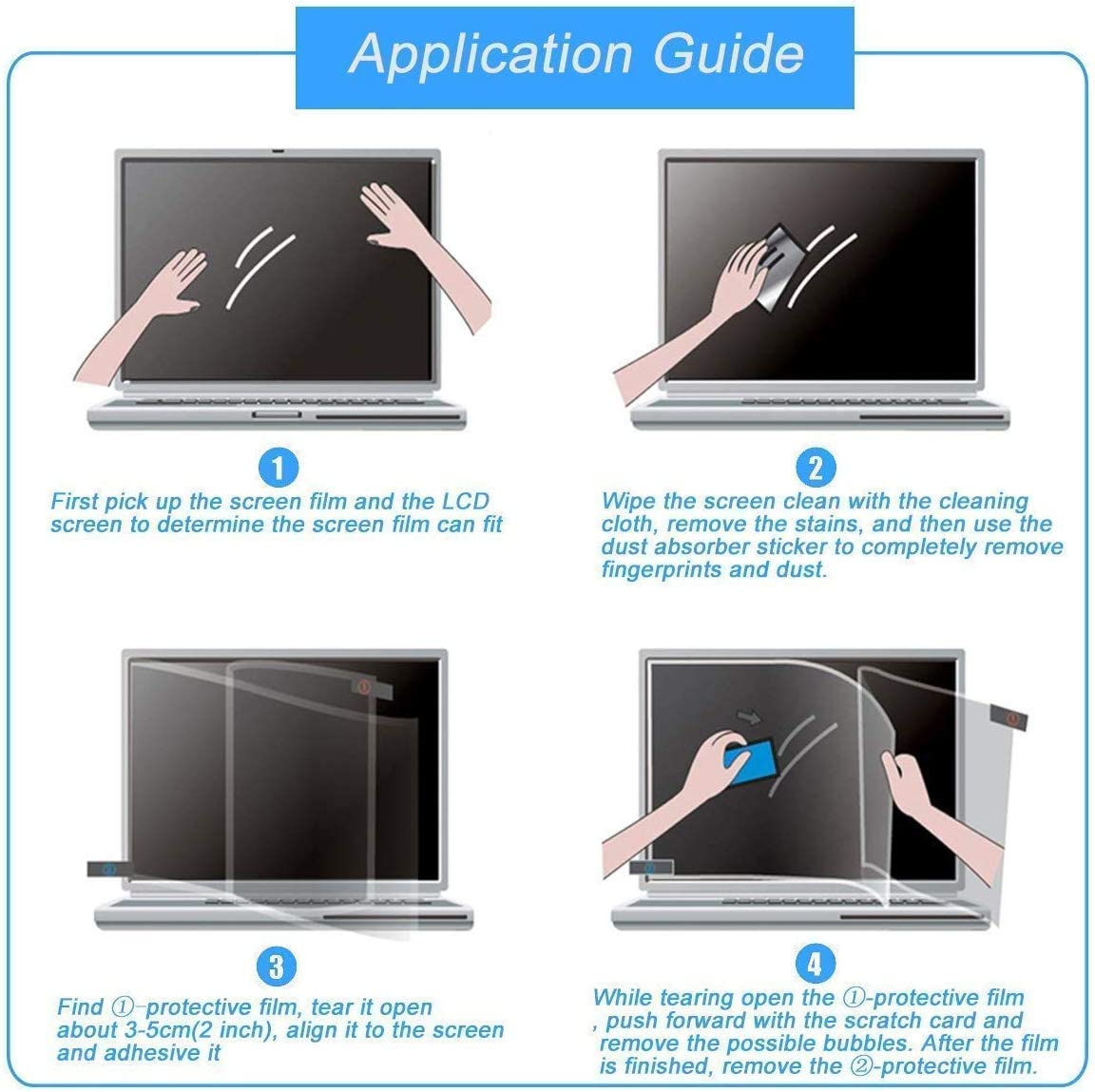 20.6x11.6 23.6 Eyes Protection Anti Blue Light Anti Glare Screen Protector fit 23.6 Inches Widescreen Desktop Monitor Screen Reduces Digital Eye Strain Help You Sleep Better