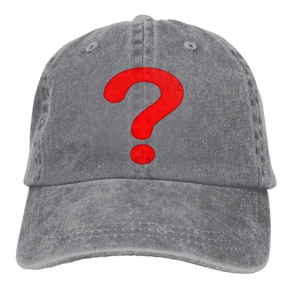 Homlife Denim Baseball Cap Question Mark Summer Hat Adjustable Cotton Sport Caps