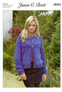 012d202adddcd James C Brett JB423 Knitting Pattern Womens Jacket in Marble Chunky Glamour