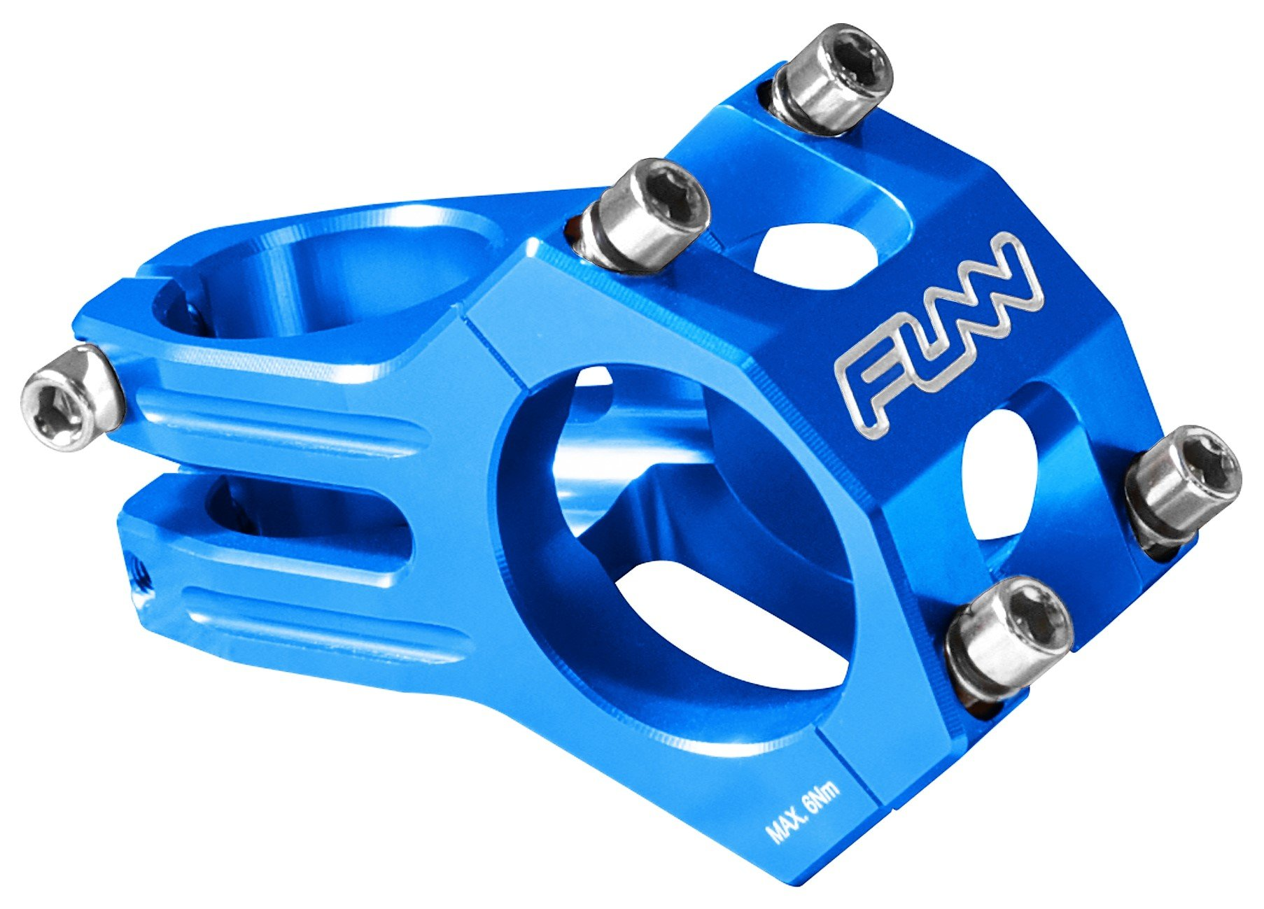Funn Funnduro MTB Stem, Bar Clamp 31.8mm (Length 60mm, Blue)