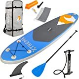 XtremepowerUS Inflatable Stand Up Paddle Board Set,Adjustable Paddle, Backpack and Pump
