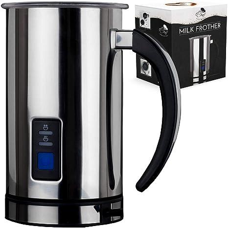 Espumador de leche eléctrico automático y calientes: Digital One Touch Máquina de acero inoxidable jarra