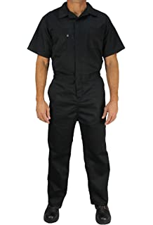 c40cb57c8075 Kolossus Deluxe Short Sleeve Cotton Blend Coverall with Multi Pockets and  Antistatic Zipper