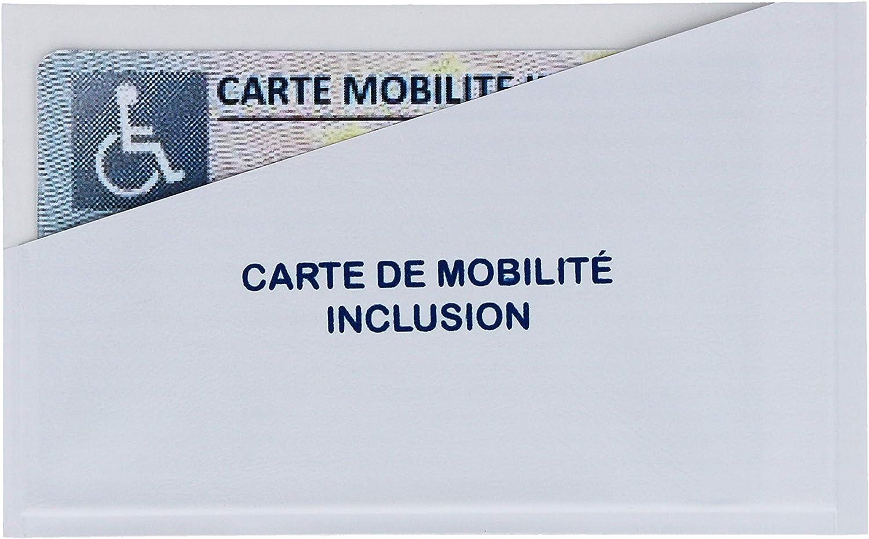 col Support adh/ésif pour Carte mobilit/é Inclusion handicap/é Porte stationnement /étui /à Pare-Brise Fabrication Fran/çaise